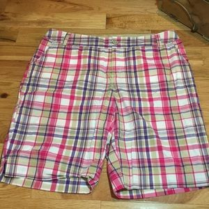 Women's shorts Sz 18W Plus Size pink/purple plaid